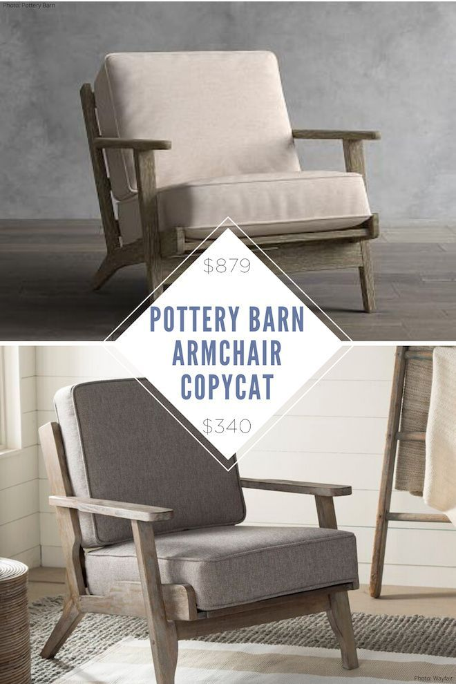 Copycat Home Decor Restoration Hardware Copycats Pottery Barn Dupes More Something Turquoise Pottery Barn Chair Pottery Barn Furniture Pottery Barn Living Room