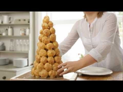Croquembouche, traditionally served at weddings in France, can become a great centrepiece on New Year celebrations, dinner parties or other special occasions.
