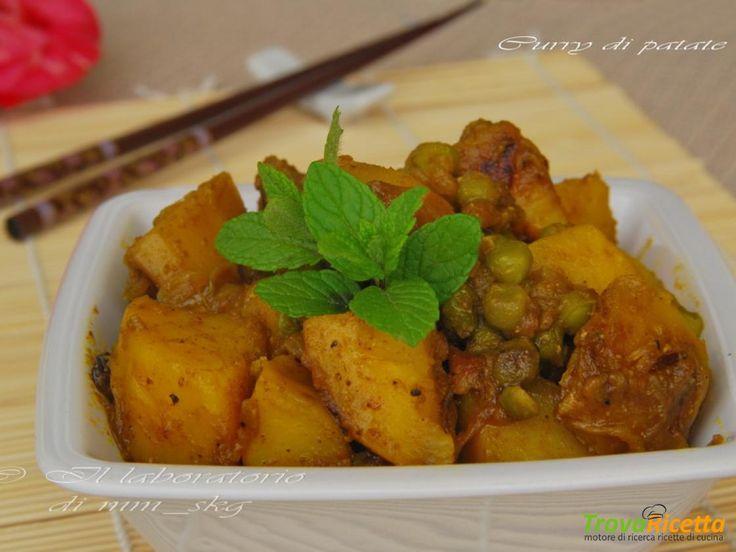 CURRY DI PATATE E PISELLI  #ricette #food #recipes