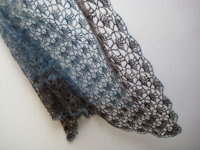 Crochet Lace Pattern : crochet lace shawl (free pattern from lionbrand) Crochet lace ...