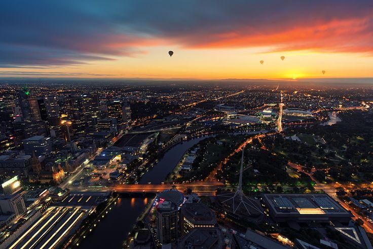 Melbourne from Eureka Skydeck