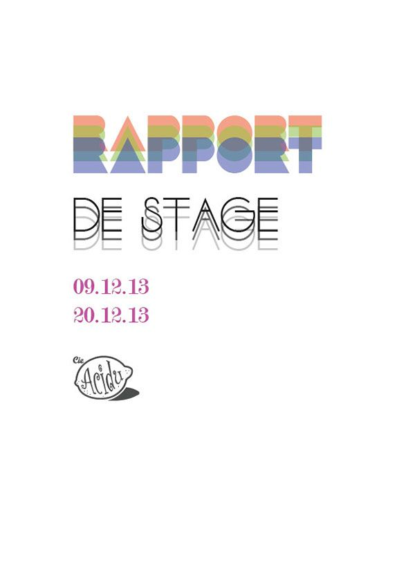 Proposition Couverture D Un Rapport De Stage On Behance