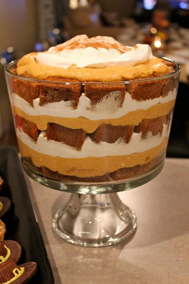 Pumpkin trifle, Trifles and Gingerbread on Pinterest