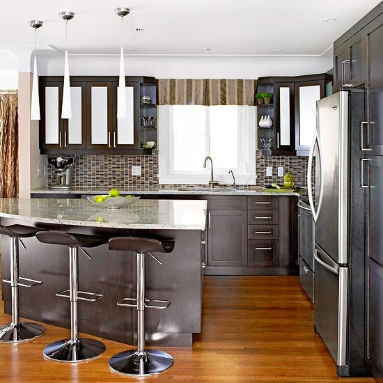 Modern Kitchen Cabinets For Small Kitchens: A Warm And Welcoming Contemporary Kitchen