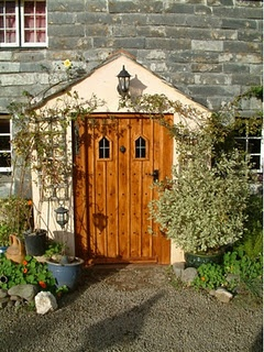 country cottage front door, love this