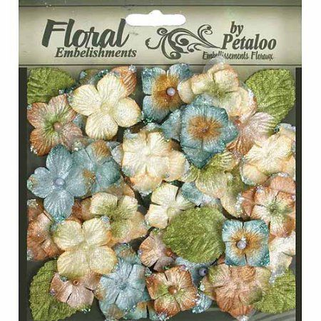 Petaloo Floral Embellishments Velvet Hydrangeas With Glitter, 36pk - Walmart.com