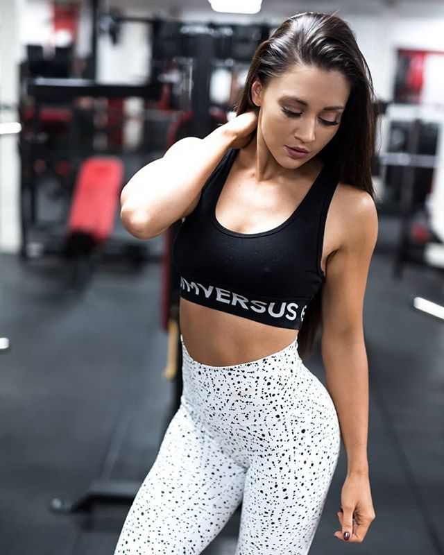 8df40671f3  kirstyjoannafitness wearing our Uppercut Contour Leggings in size XS and  Rest Day Bralette in size S. Available from GYMVERSUS.com.