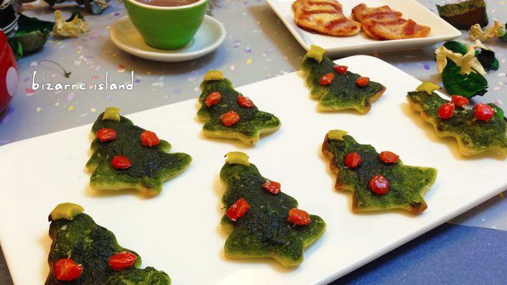 DIY Christmas Pizza Bites Video Tutorial #easy #cute