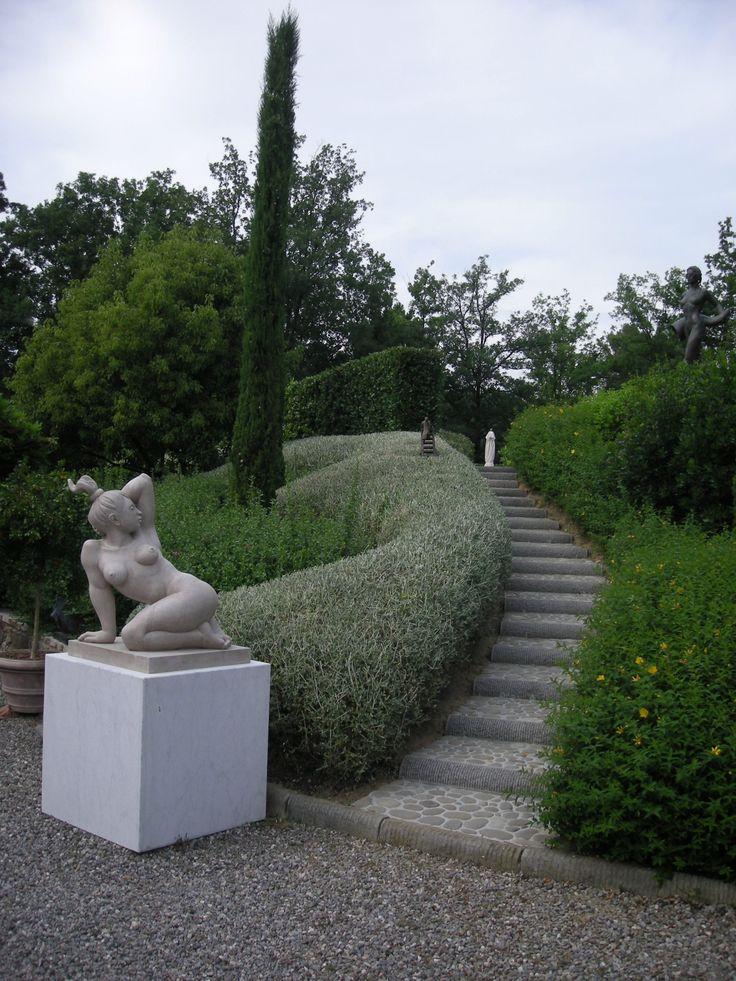 Parco privato sulle colline toscane.
