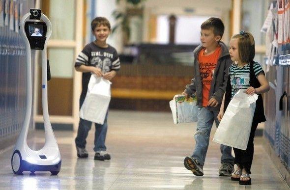 Acudir a clase… en forma de robot  El robot VGo permite a niños con problemas de movilidad o enfermedad participar en las clases de forma remota. El robot de 1,20 metros dispone de un enlace inalámbrico de vídeo para telepresencia.