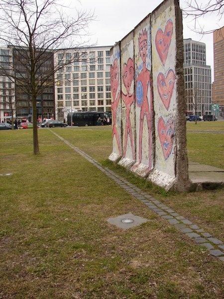 Pieces of the Berlin Wall around Berlin
