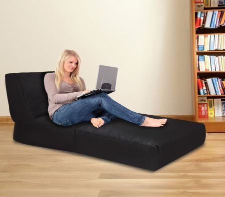 Black Bean Bag Sofa Cover