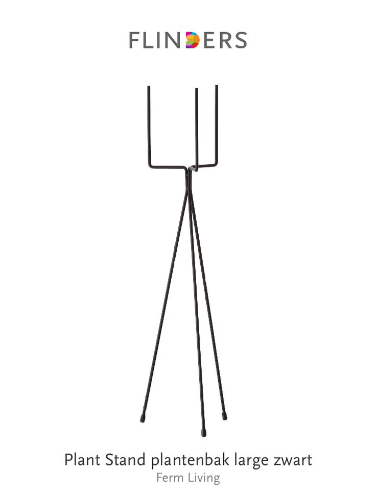 Check out this product I've found using the Flinders app:  Plant Stand plantenbak large zwart http://www.flinders.nl/db9fc432b66de75b1e98f43aa40812fc