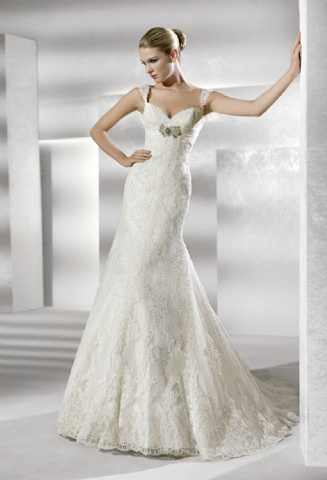 Cool New Arrival Cap Sleeve Lace Bodice Beach Wedding Dress with a Sash APD sold by DiyDresses