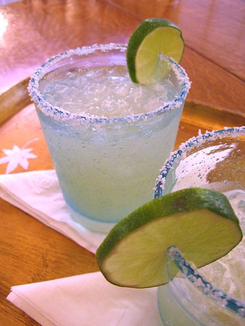"""the Perfect Margarita: (For one drink) 1 1/2 oz. tequila (100% agave a must, preferably a """"reposado"""") 1 1/2 oz. triple sec or Cointreau 1 to 1 1/4 oz. of lime juice Salt for the rim of the glass"""