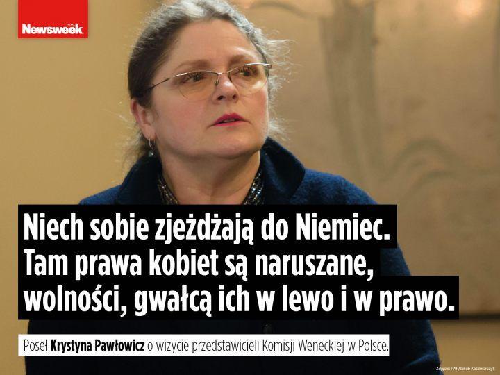 Krystyna Pawłowicz polityka PiS Prawo i Sprawiedliwość