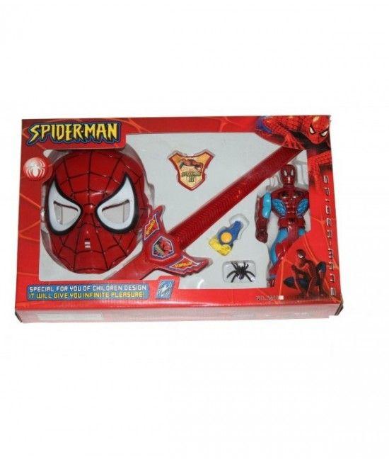 Este un set inspirat din viata personajului Spiderman. Contine o figurina Spiderman prevazuta cu lumina, masca, o sabie cu lumina, un fluier si o insigna. Reprezinta cadoul perfect pentru copii de peste 3 ani, pasionati de viata supereroilor!