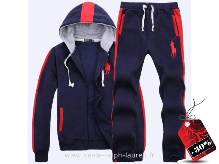 officiel survetement hommes Ralph Lauren 2013 mode casual liste pas cher bleu rouge Ralph Lauren Usa