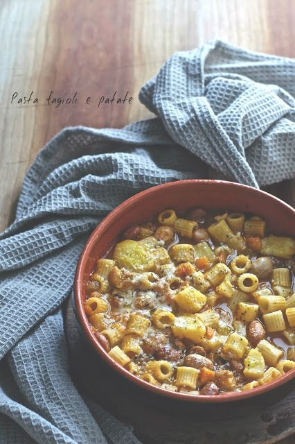 la pancia del lupo: Pasta fagioli e patate