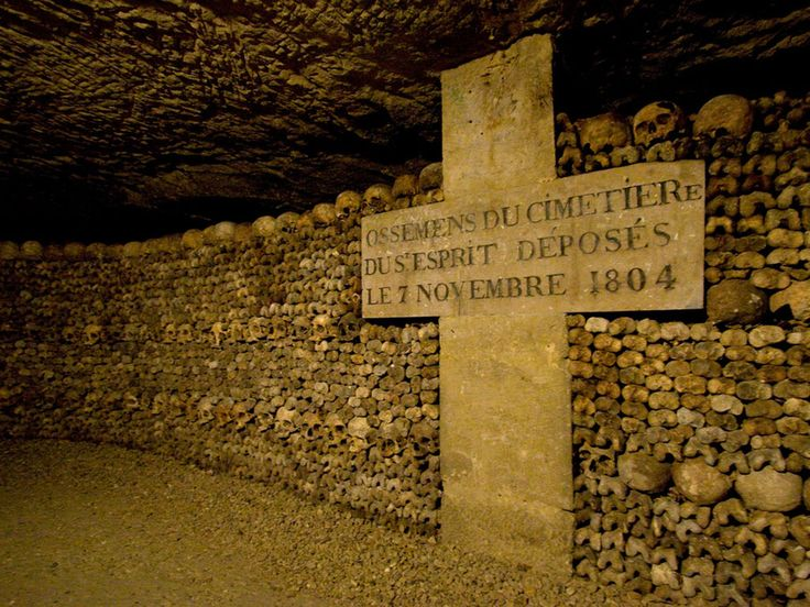 A series of manholes and ladders lead visitors to the creepy catacombs of Paris. In 1786, the cemeteries of Paris churches were filled to overflowing. The government saw a solution in long-abandoned stone quarries in and around the capital. The resulting catacombs eventually became the final resting place of some 6 million people. Following a vandalism incident, the catacombs were closed to the public in September 2009, but reopened a few months later.