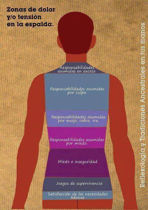 Zonas de tensión y/o dolor de espalda