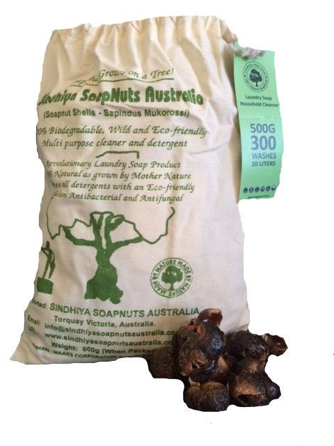 SOAP NUTS 500g/300 washes 100% NATURAL A true gift from nature. Revolutionary Laundry Soup Product. Multi purpose detergent & cleaner. Eco-friendly solution that is Antibacterial & Anti-fungal. Fair trade.  SoupNuts are the only 100% natural cleaning product. Grows on a tree as a berry & drops to the ground, dries & is ready to use.  - NO MANUFACTURING - NO POLLUTION - NO WASTE OF RESOURCES -