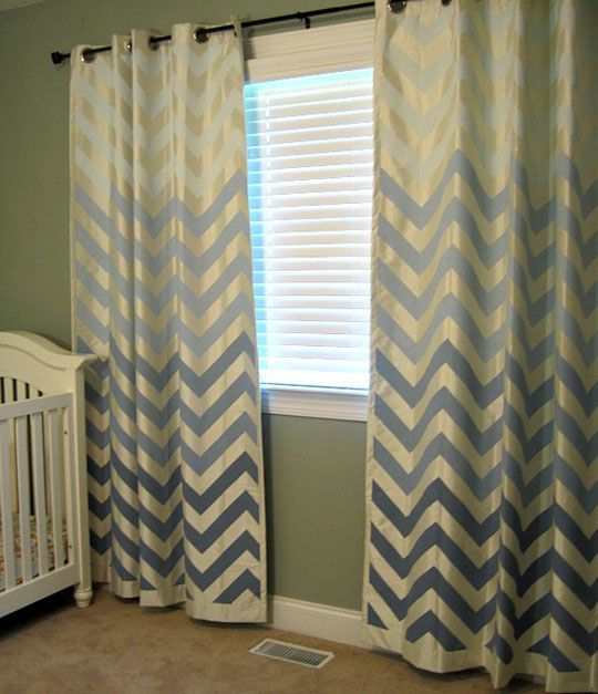 diy painted ombre curtains