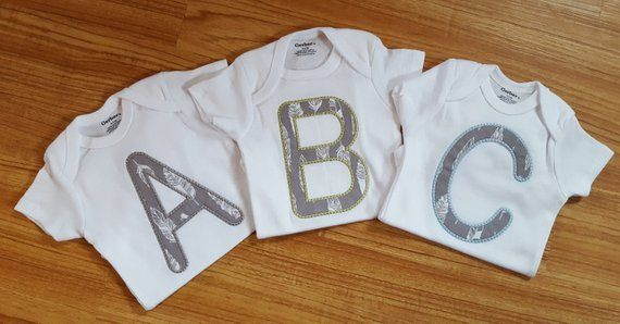 aad3f624 Triplet baby gifts Triplet matching clothing - Baby shower gift - Dress  your new borns in