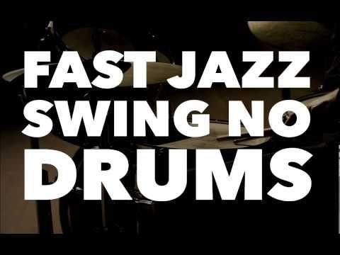 Fast Swing Jazz No Drums 223 BPM - YouTube | Drum technique