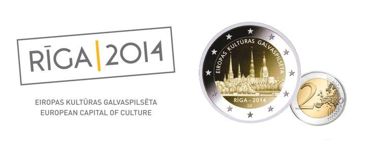 "First Latvian commemorative 2 euro coin ""Rīga European Capital of Culture 2014"""