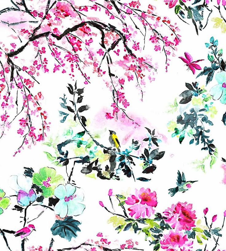 Chinoiserie Flower Fabric by Designers Guild | Jane Clayton