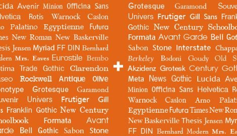 29 principles for making great font combinations  By Douglas Bonneville on August 11, 2010