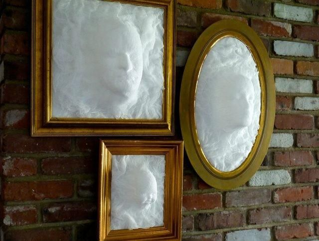 DIY Ghost gezicht Picture Frame - wikisailor.com