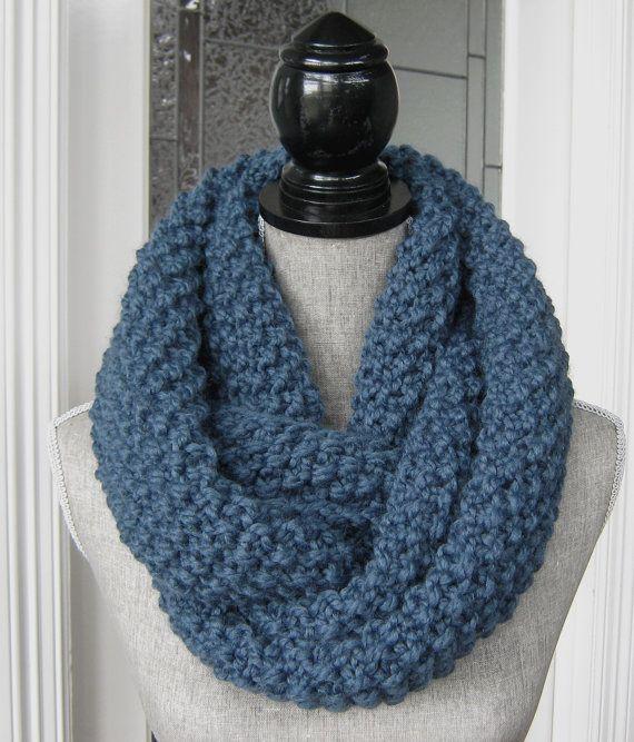 Women's Chunky Knit Cowl  Wool Blend Women's by SwaddleinCloth