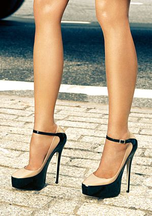 black and nude jimmy choos. So cute!