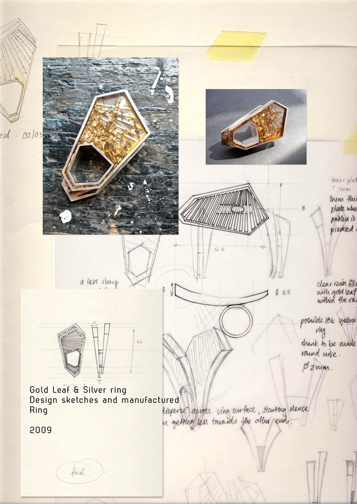 Amazing sketchbook/ design process images from jeweller Theresa Burger