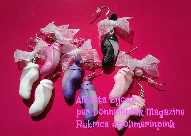 donneinpink magazine: Come fare delle scarpette di danza in fimo #polime...