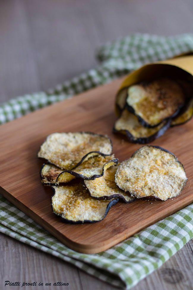 Le #chips di melanzane sono croccanti e si preparano in un attimo