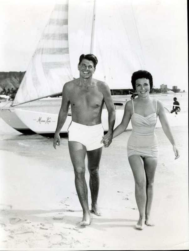 Ronald and Nancy Reagan before he went into politics. Quite the heartthrob in his day. - Ronni
