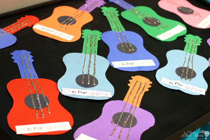 g is for guitar ... Letter Craft Ideas - First Grade Blue Skies
