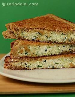 Cabbage and Paneer Sandwich recipe | Sandwich Recipes | by Tarla Dalal | Tarladalal.com | #5223