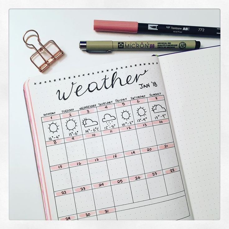 Monthly weather layout for January 2018! It is the first time I am dedicating a page for weather and I find it very nice! I have it right after the monthly layout and before the weekly ones!   #BujonCoffee #GreekBujo #BujoGR #BujoGreece #BulletJournalGreece #bulletjournal #bulletjournaljunkies #bulletjournaling #bulletjournallove #bulletjournalcommunity #wearebujo #bujoinspo #bujogirl  #bulletjournalcollection #bujo #bujojunkies #bujolove #bujonewbie #bujolife #bulletjournalnewbie…