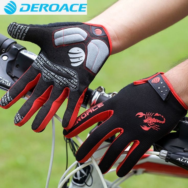 DEROACE Cycling Riding Men Anti-shock Thermal guantes MTB Road Bike Bicycle Winter Full Finger Windproof Teach Screen Gloves ** AliExpress Affiliate's buyable pin. Clicking on the VISIT button will lead you to find similar product on www.aliexpress.com