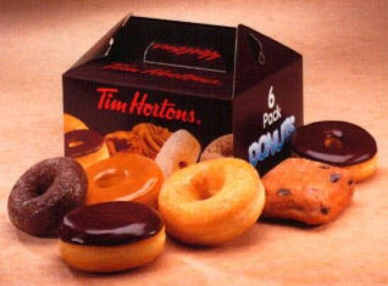 So donuts it is! And not just any donut: a Tim Hortons' donut, which, true, is not the GREATEST according to Krispy Kreme aficionados, but it is better than a kick in the pants, and it is also a donut, and why are you complaining? (Donuts are love, obviously.)