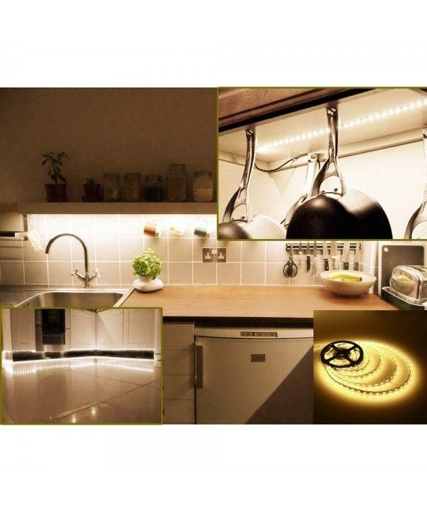 12v Dc Flexible Led Strip Lights 16 4ft 5m Led Light Strips Warm White Light 300 Units 3528 Leds Waterproof Lighting Strips Led Tape Pack Of 1