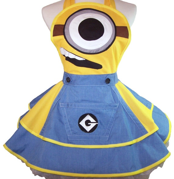 Minion apron minion cosplay animadores cuarto de for Minion clothespins