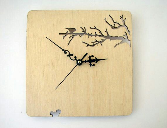 fresh idea whimsical clocks. Laser cut Wood wall clock Branches and bird by indomina 11 best It s Time  Clocks images on Pinterest Pendulum