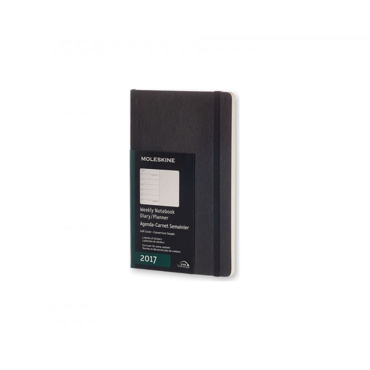 Moleskine 12 Month Weekly Planner 2017 Diary A5 Black - Personal Diaries - Diaries, Calendars & Planners - Office Supplies