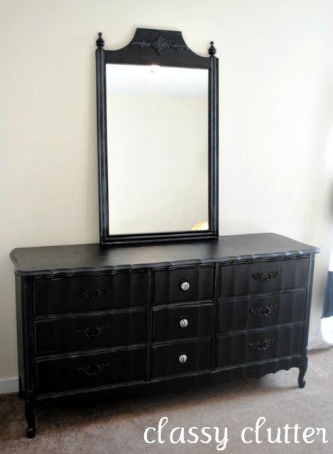 Black and Zebra Dresser Makeover