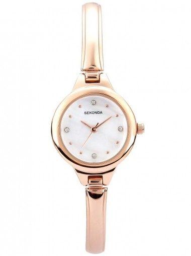Sekonda Ladies Rose Gold Bracelet Dial Watch 2038